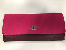 Coach Leather Burgundy Wallet Purse