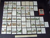 """1920s-30s Vintage Jacques Card Game Spare Cards (48) + Box """"Counties of England"""""""