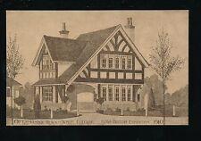 EXHIBITION  1910 Japan-British Oetzmann's Cottage Advert Souvenir PPC