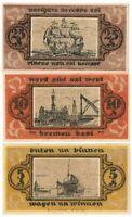 **1921 BREMEN Germany- SHIPS & SEA PORT ~ Matching Set UNC German Notgeld