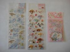 LOT OF 3 SANRIO STICKERS SUGARBUNNIES BABY CINNAMON CINNAMOROLL 2007/2008 NEW