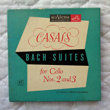RCA Casals Bach Suites For Cello Nos. 2 & 3 (4) 45,'52,BOX,INSERTS,RARE,RED V's!