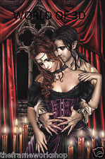 VICTORIA FRANCES SEDUCTION IN RED - 3D CULT FANTASY PICTURE 300mm x 400mm