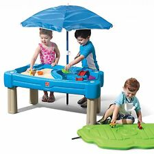 Step2 Cascading Cove Sand & Water Table with Umbrella Kids Water Play