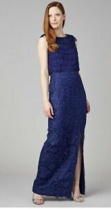 BNWT Phase Eight Collection 8 Julianna Blue Long Dress UK 10 EU 38 US 6 £395 New
