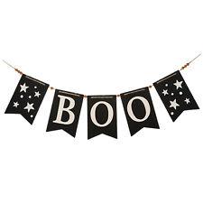 "46"" Long GANZ Retro Wooden Spooky Stars Boo Halloween Party Decor Garland Sign"