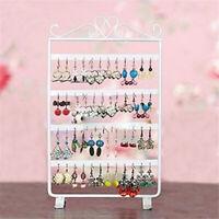 48 Holes Earrings Jewelry Display Rack Metal Stand Holder Storage Showcase Sight