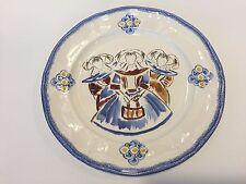 """Quimper France CPC Ceramiques de Cornouaille Dinner Plate, 10 1/2"""" Diameter"""