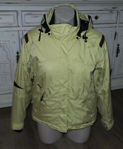Women's OBERMEYER Hooded Insulated Ski Jacket/ Gloves Size 4