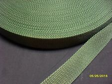 1 1/4 inch 10 yds OD GREEN polypro webbing new crafts sewing