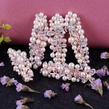 Women Pearl Crystal Rhinestone Hair Barrette Clip Flower Leaf Butterfly Hairpin