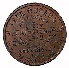 1879 London Middlebrook Coins Medals Edinburgh Castle Museum Token Medal W-3052