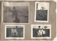 EARLY AMERICAN FAMILY PHOTO ALBUM OF FARM, ANIMALS, TRAVEL, CYANOTYPES