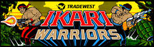 Ikari Warriors Arcade Marquee For Reproduction Header/Backlit Sign