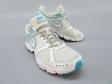 NIKE Downshifter 4 Running Shoes 472680-100 White & Blue Mens Size 9 Euro 40.5