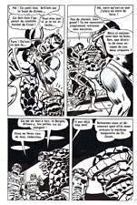 LES 4 FANTASTIQUES CONTRE CYBERMAN PLANCHE DE MONTAGE ORIGINALE PAGE 21