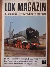 LOK MAGAZIN 161 - Mär/Apr 1990 Dampflok 18 201 Lokalbahn Reutlingen-Eningen