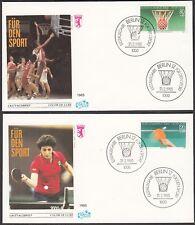 Berlin FDC 732 - 733  auf 2 Briefe -  Sporthilfe