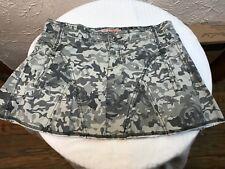Junior Womens Body Con Mini Skirt Greens Camouflage Camo
