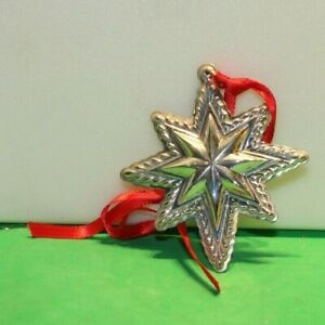 LUNT 1998 STAR Sterling Silver Christmas Ornament