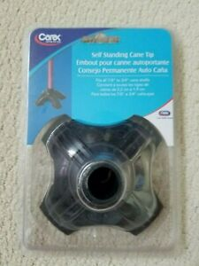 Carex Self Standing Cane Tip Extra Wide Rubber Base A70800 New
