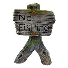 Betta No Fishing Sign Aquarium Poisson Décoration Decor