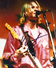 Kurt Cobain Autograph Pre Print Nirvana Photograph 8x10 Inches (UK A4)