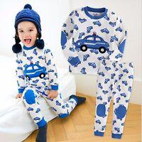 "Vaenait Baby Toddler Kid Boy Clothes Long Sleepwear Pajama Set ""Blue Car"" 12M-7T"