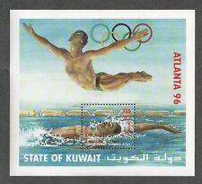 KUWAIT Atlanta '96 Swimming Souvenir Sheet Summer Olympic Games 1996 Mint NH