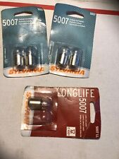 *NEW* SYLVANIA 5007 / 5007 LL Card of 5 Light Bulbs Lot NOS