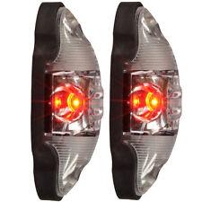 2x LED Begrenzungsleuchte Umrissleuchte Positionleuchte rot weiß uni12V 24V NEU