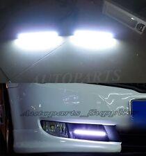 2X White Car COB LED Lights -Waterproof DC 12V Super Bright DRL Fog Driving Lamp