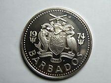 1974 BARBADOS FIVE DOLLAR SILVER PROOF