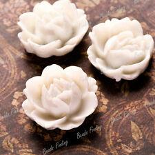 Resin Fashion Flower Flatback Fit Cabochon Setting Wholesale 25 color Choose