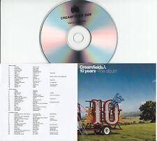 CREAMFIELDS 10 Years The Album 2015 UK 54-trk sampler promo test CD