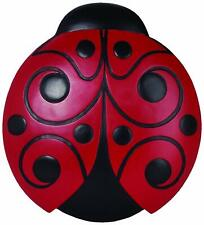 Indoor Outdoor Ladybug Stepping Stone & Wall Plaque for Home & Garden Decor