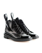 INCH2 Glossed Leather Lace-up Boots black - 38 - *NEW*