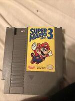 Super Mario Brothers Bros 3 Original NES Nintendo Game Tested Working +Authentic