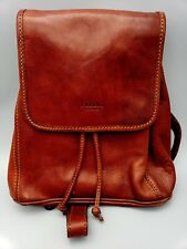 I Medici Simple Daypack Backpack Italian Leather Chic 4600