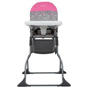 Full Size High Chair W/ Adjustable Tray Seat Toddler Child Portable Safe Pink