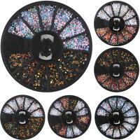 Mode 1mm 3D Bijoux Ongle Déco Glitter Strass Cristal Fimo Gel UV Tips Nail Art