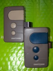 (2) OEM  Craftsman Garage Door Opener Remote 139.53681B. Sears HBW1255 Clip lot