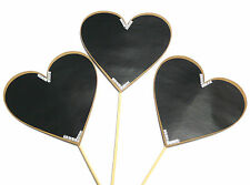 3PC Heart Love Chalkboard Signs Photo Booth Props Wedding Parties