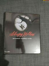 More details for sleepy hollow movie trading card binder and basic set. very rare