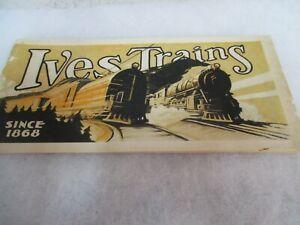 Original Ives 1929 Train Catalog