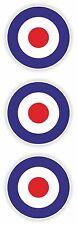 x 3 anglais RAF Autocollant Armée de l'air ronds vinyle UK Royaume Uni