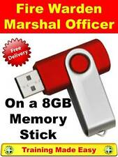 Fire Warden Marshal - Duties Criteria  Health & Safety Training 8GB Memory Stick