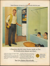 1967 Vintage ad for Electrical water heater Photo retro bathroom kids   (040518)