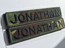 """Name Patch Badge Embroidered 5""""X 1"""" Hook And Loop AirSoft Paintball CrossFit Mod"""