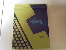 College Typewriting 8th Edtion T76 Complete Course 1969